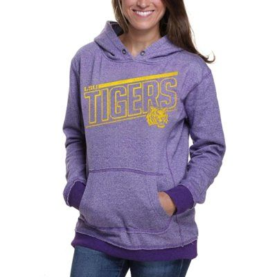 LSU Tigers Women's Two-Toned Pullover Hoodie - Purple