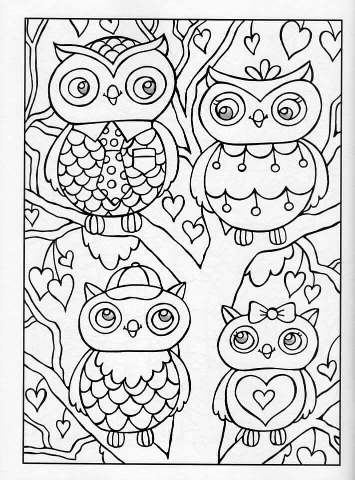 coloring for adults kleuren voor volwassenen owl