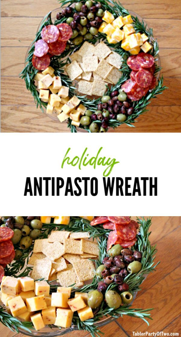 Olive You Holiday Antipasto Wreath | Tabler Party of Two