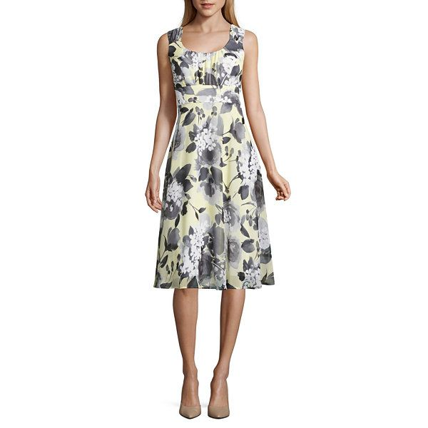 2e177c51ff6 Connected Apparel Sleeveless Fit   Flare Dress - JCPenney