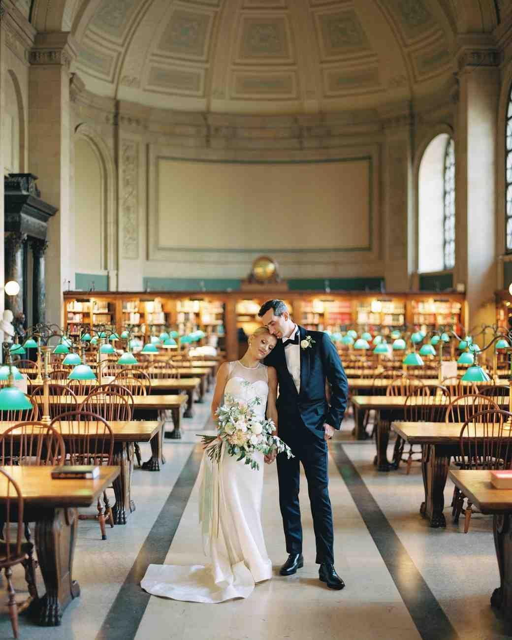 A Classic Boston Public Library Wedding Boston Public Library Wedding Library Wedding Easy Wedding Planning