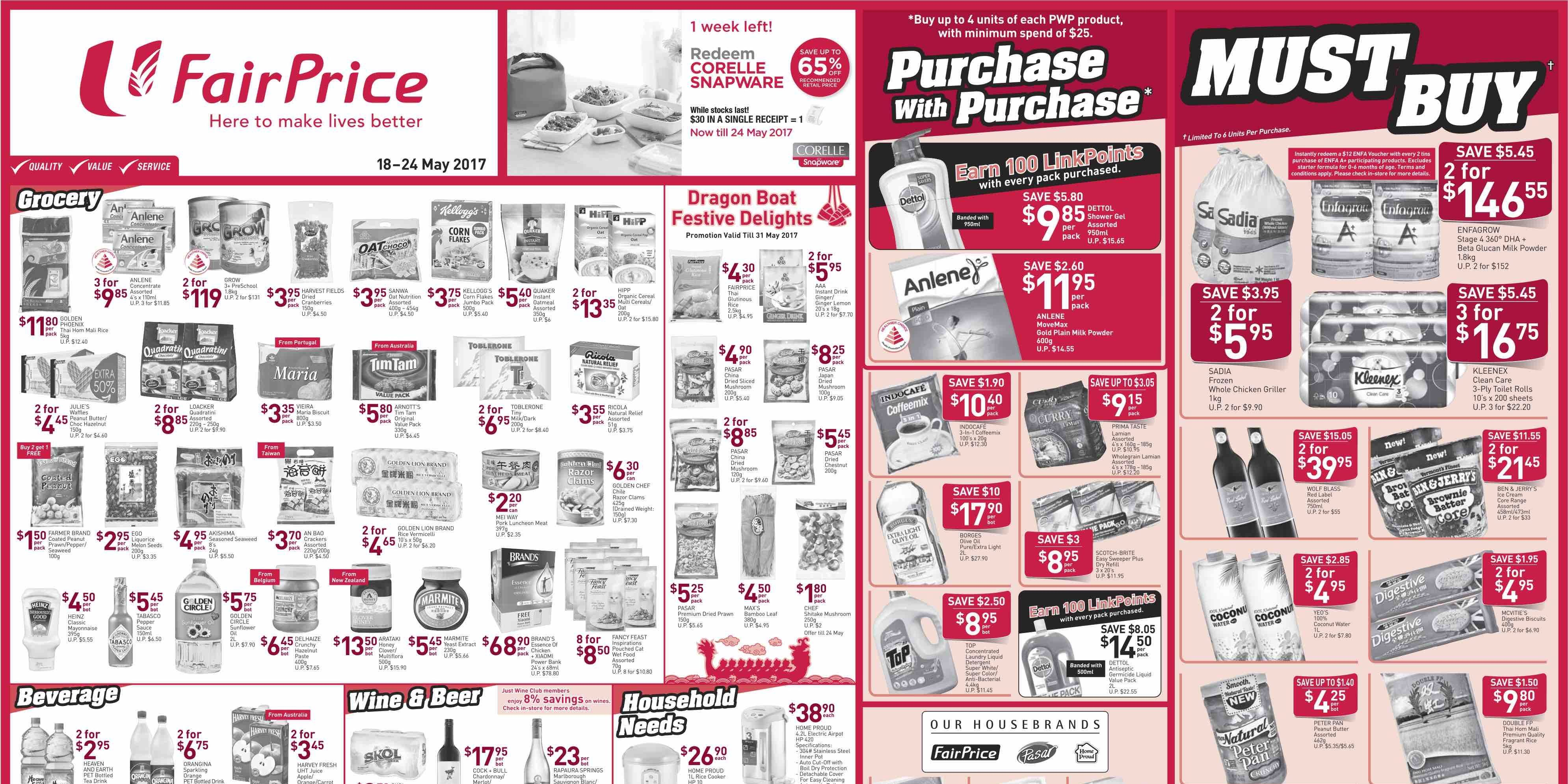Ntuc Fairprice Singapore Your Weekly Saver Promotion 18 24 May 2017 Savers Promotion Singapore