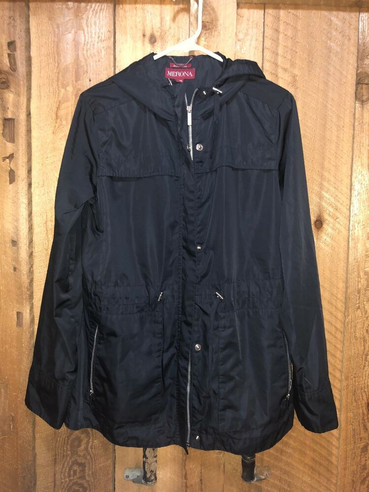 8aa22fc78 Women's MERONA Black Zip Front Lightweight Coat Jacket Size XL #fashion  #clothing #shoes #accessories #womensclothing #coatsjacketsvests (ebay link)