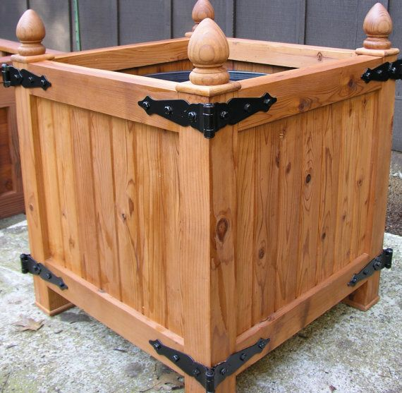 Old World Redwood Planter Box Versailles By 400 x 300