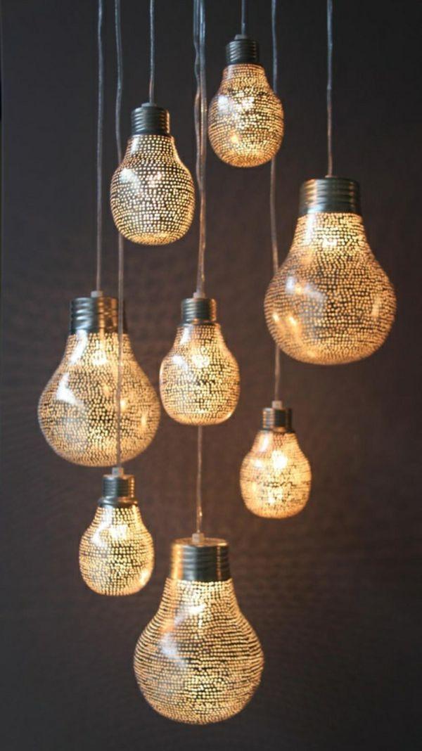 Wohnzimmerlampen, Die Ihr Ambiente Schick Und Originell Dekorieren |  Lampen/ Lights | Pinterest | Wohnzimmerlampe, Glühbirnen Und Hängeleuchten
