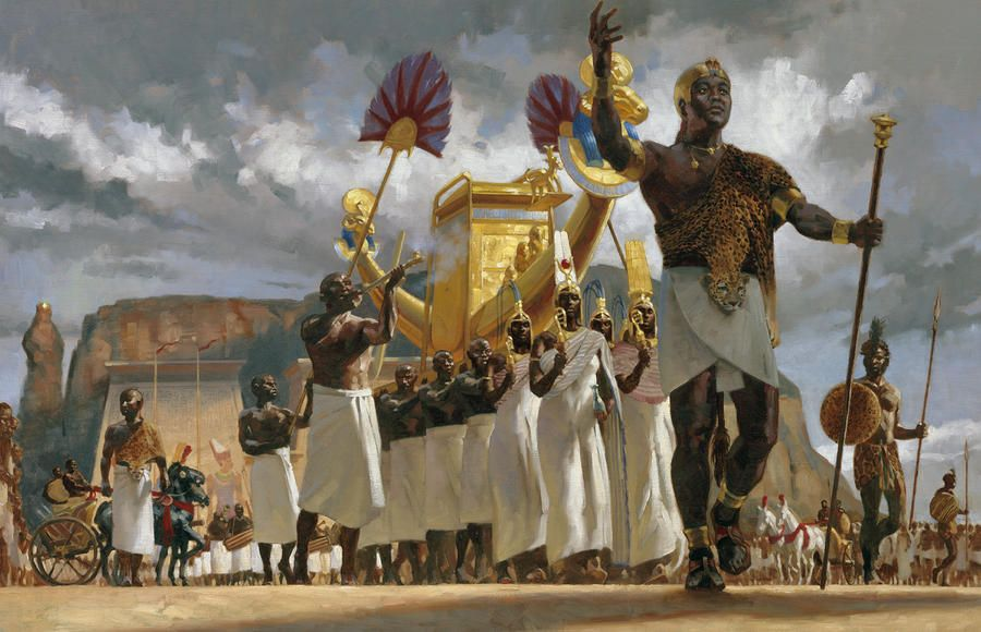 King Taharqa Leads His Queens - Gregory Manchess