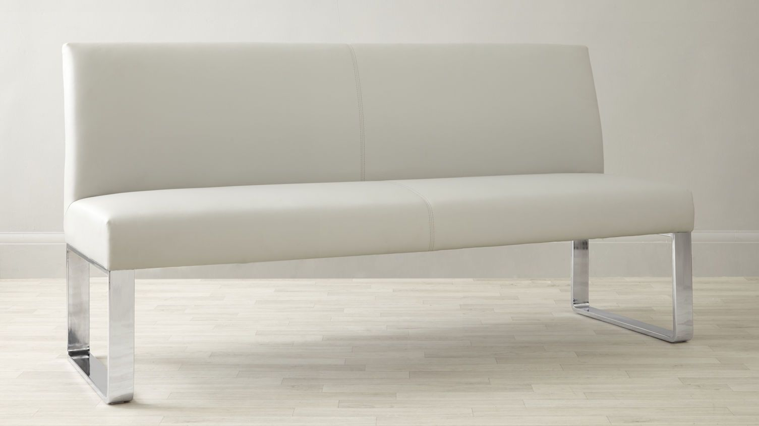 Loop 3 Seater Bench With Backrest Dining Bench With Back