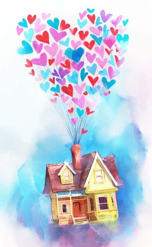 Movie Up Art Disney Valentines Disney Background Disney Wallpaper