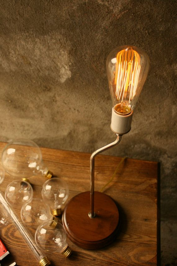 These Are My New Favorite Bulbs Industrial Table Lamp Light