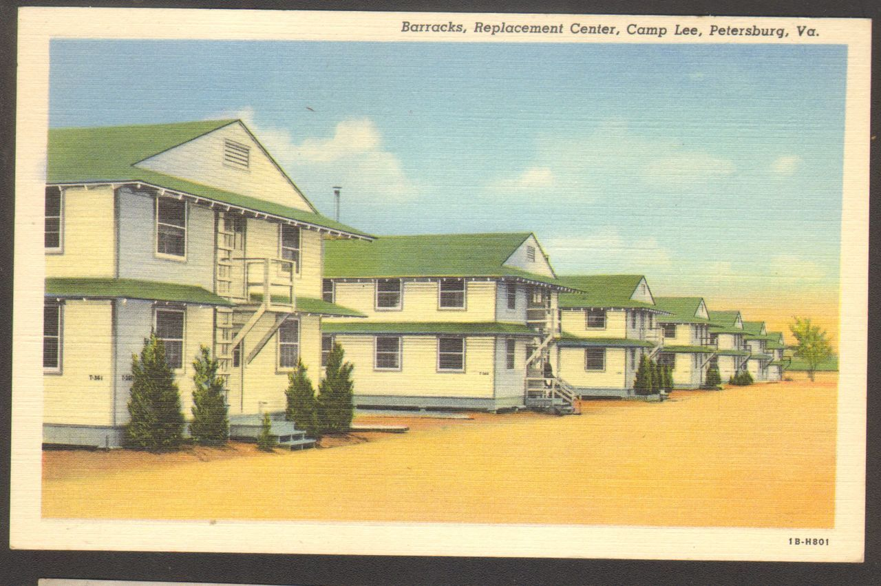 Unused Postcard Barracks Replacement Center Camp Lee Petersburg