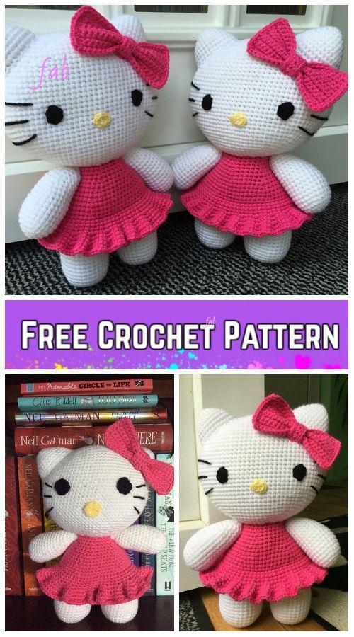 Crochet Hello Kitty Amigurumi Free Patterns - Toy Plush for Kids ...