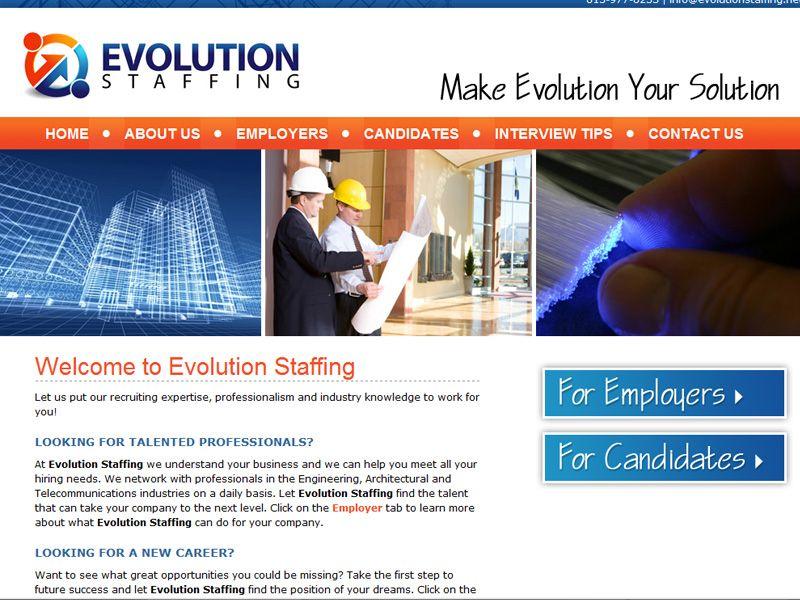 Evolution Staffing S Layout Is Professional And Simple Portfolio Web Design Web Design Portfolio Design