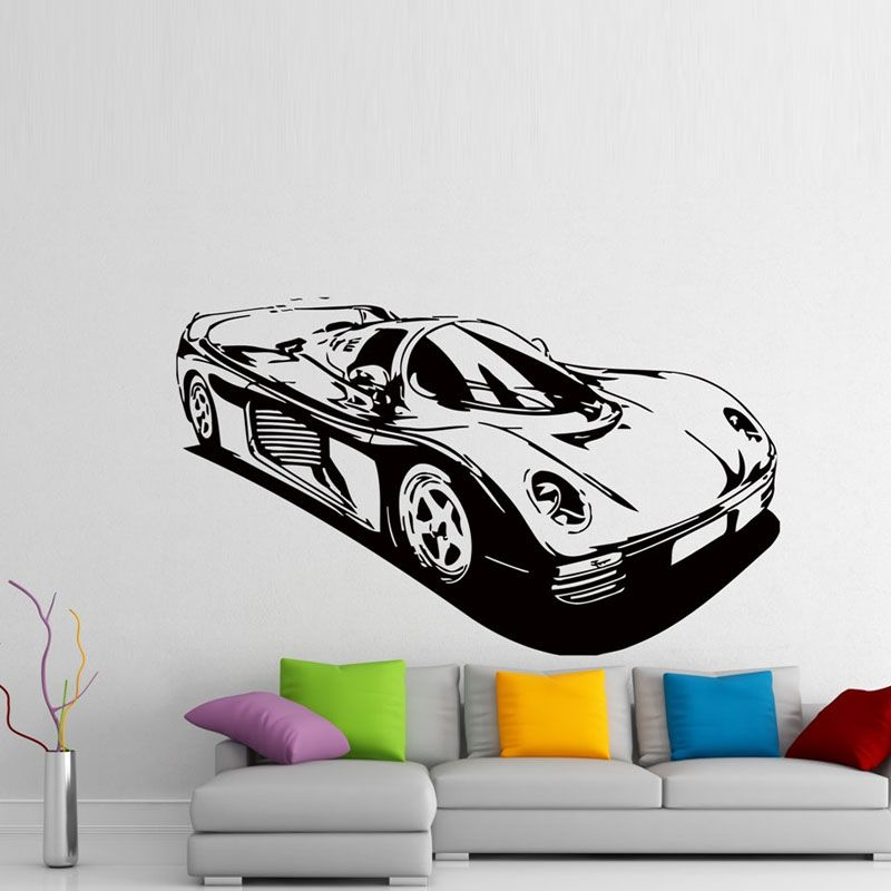 Diy Racing Sport Car Wall Stickers Home Decor Vinyl Removable Wall