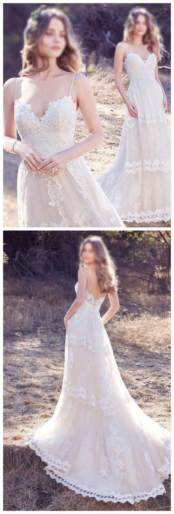 aline prom dresses white spaghetti straps lace long prom dress
