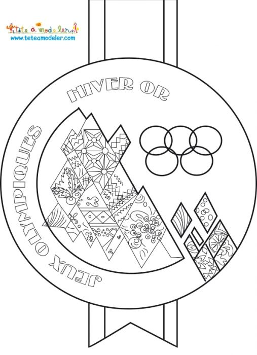 Activit s sur le th me des jeux d 39 t avec t te modeler garderie hiver olympics french - Drapeau olympique a colorier ...