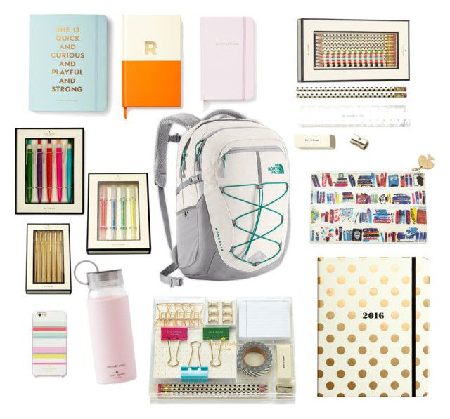 """""""kate spade backpack"""" by oliviaaclark ❤ liked on Polyvore featuring interior, interiors, interior design, home, home decor, interior decorating, The North Face, Kate Spade and Amara"""