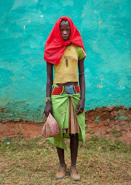 Banna tribe girl in Key Afer - Ethiopia
