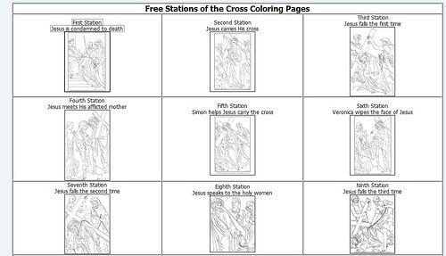 Collection of Stations Of The Cross Worksheet - Sharebrowse