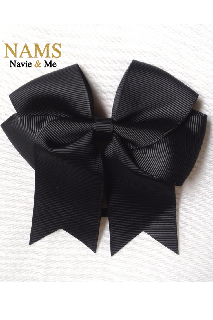Black Cheer Bow Black Hair Bow Cheer Bow 4 5 Small Navie And Me Baby Boy Clothes Summer Toddler Girl Headbands Girls With Black Hair