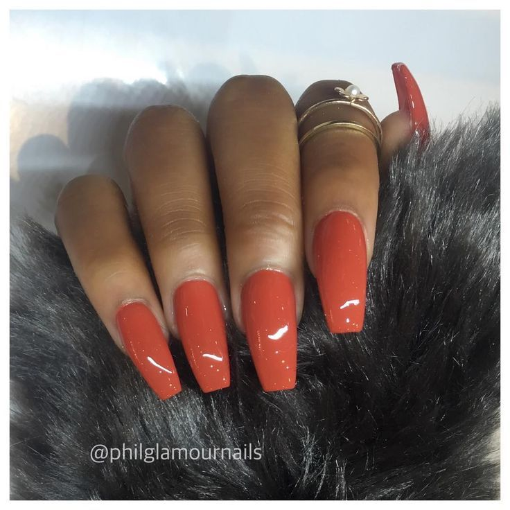 Orange nails | Claws on Fleek | Pinterest | Orange nail, Nail inspo ...