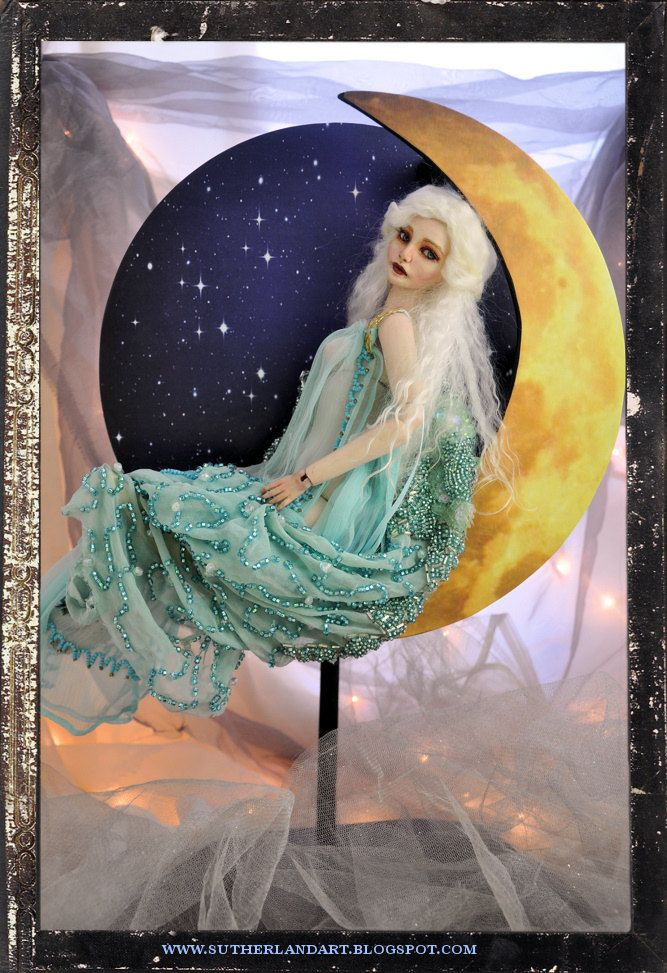 Handmade Half Moon Art Nouveau Inspired Display Stand for Dolls  by Shari Depp Designs. $74.99, via Etsy.
