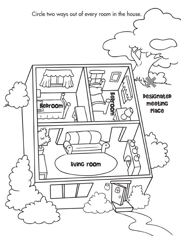 Remember to have a fire escape plan and practice it often