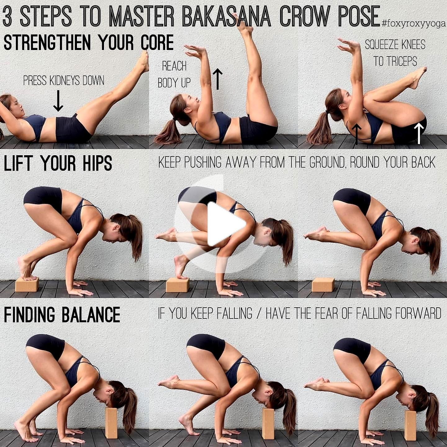 HOW TO MASTER BAKASANA 50. Fire up your core by doing Supine Crow ...