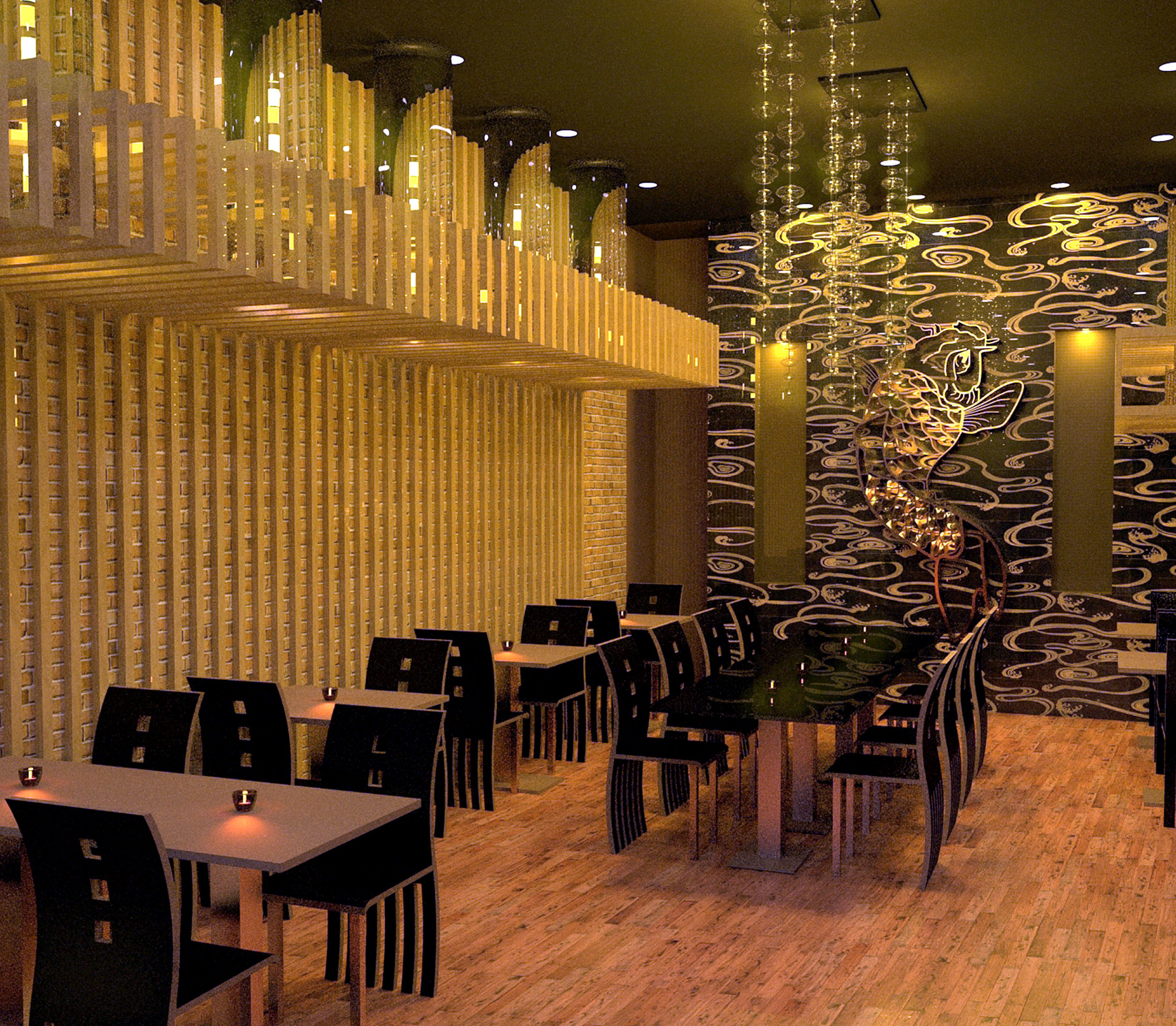 Japanese restaurant interior design chicago