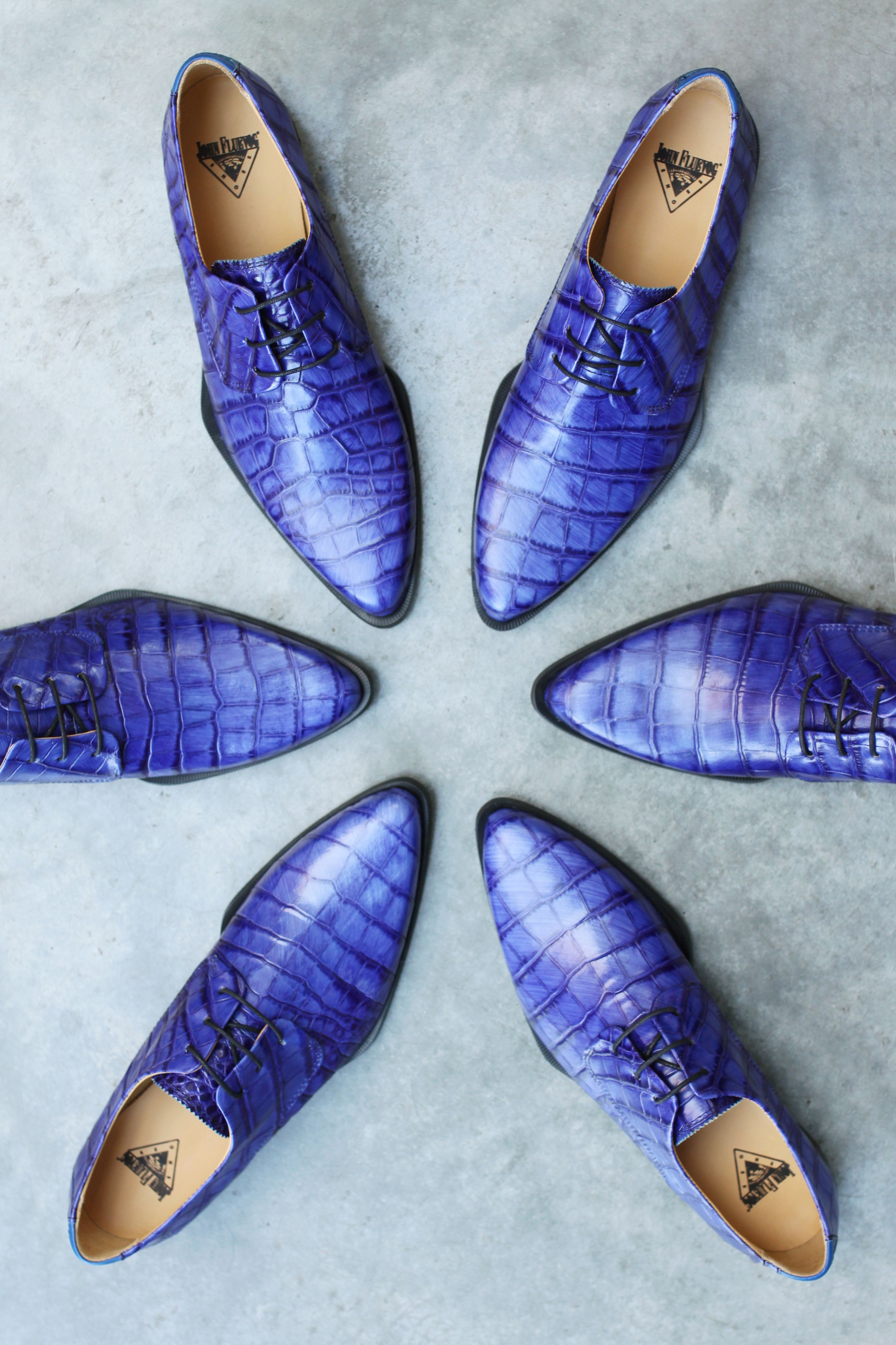 The Ace Face is a classically constructed, crocodile embossed lace-up derby with places to go and people to see.