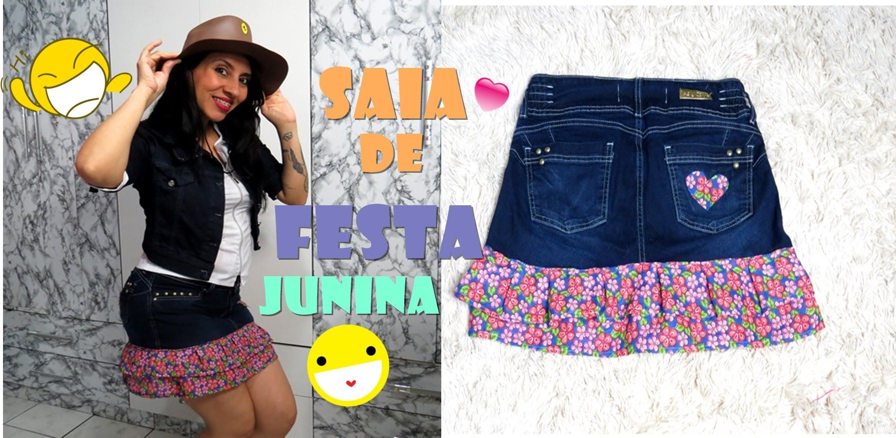 c1a898967980 saias gode jeans customizada para festa junina - Pesquisa Google ...