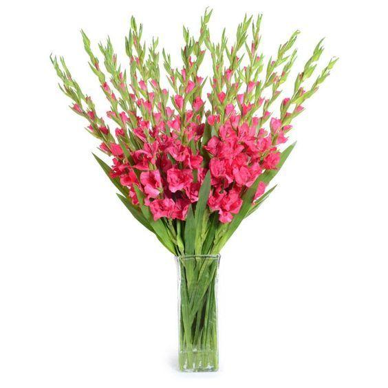 Gladiolus Arrangment Ideas Pink Gladiolus Faux Flower Arrangement In Soft Peach Color Gladiolus Arrangements Faux Flower Arrangements Faux Flowers