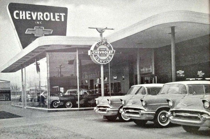 Chevrolet Dealership Circa 1957 Chevrolet Dealership Chevy