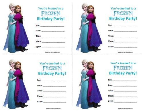 Free Printable Frozen Birthday Invitations Abby S Princess Party