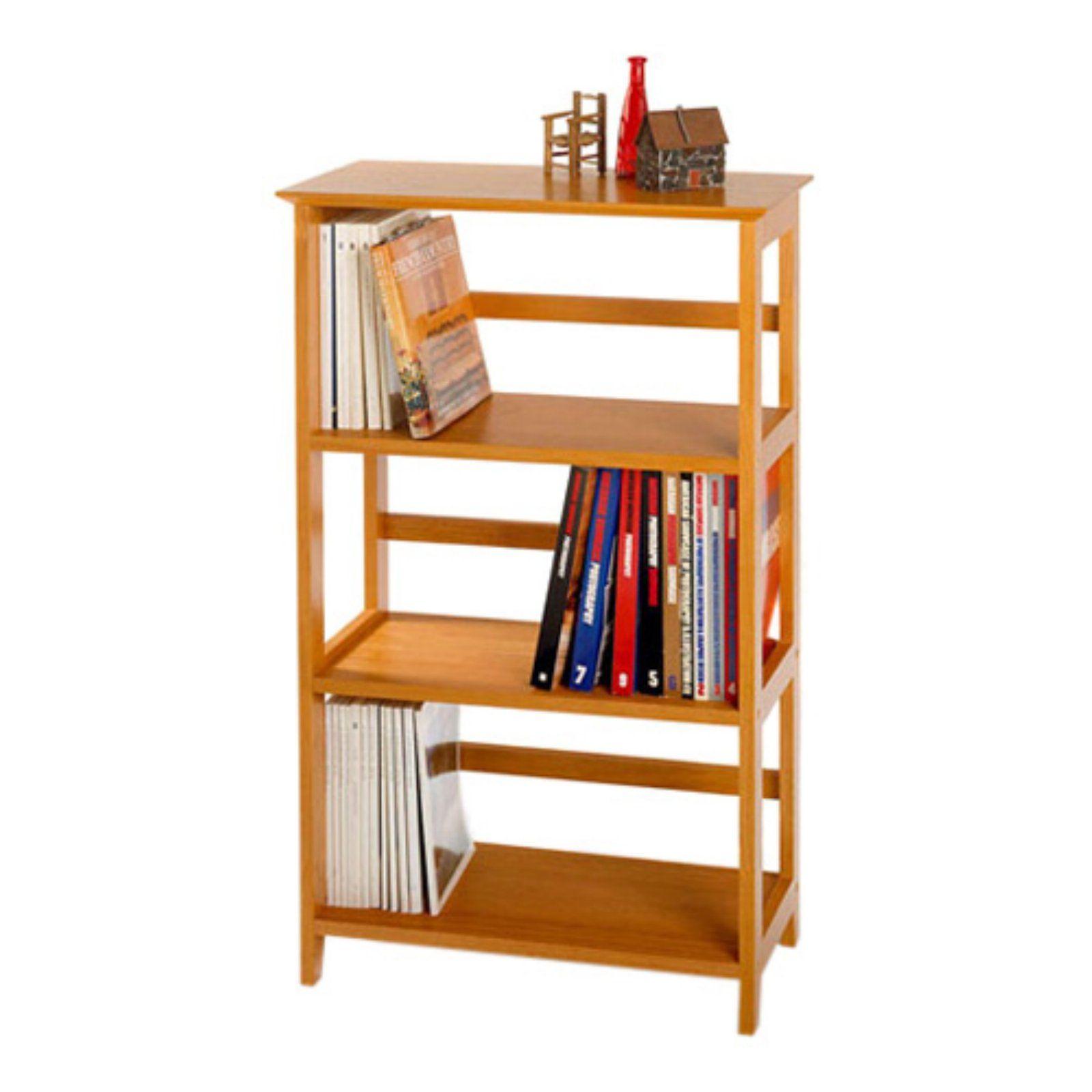 Winsome Studio 3 Tier Wood Bookshelf Home Office Furniture Desk Wood Bookshelves