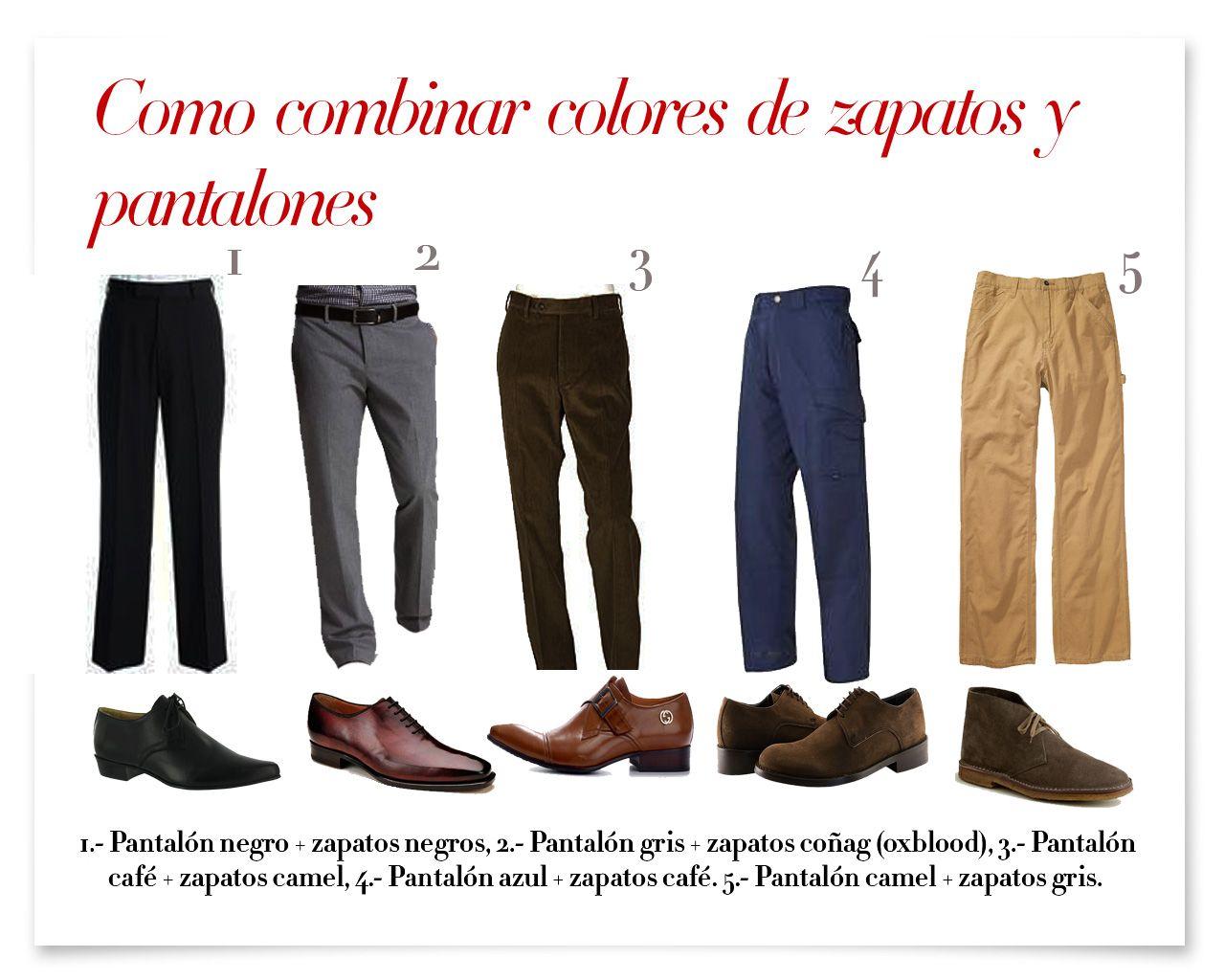 C mo combinar colores de zapatos y pantalones hombres - Colores para combinar ...