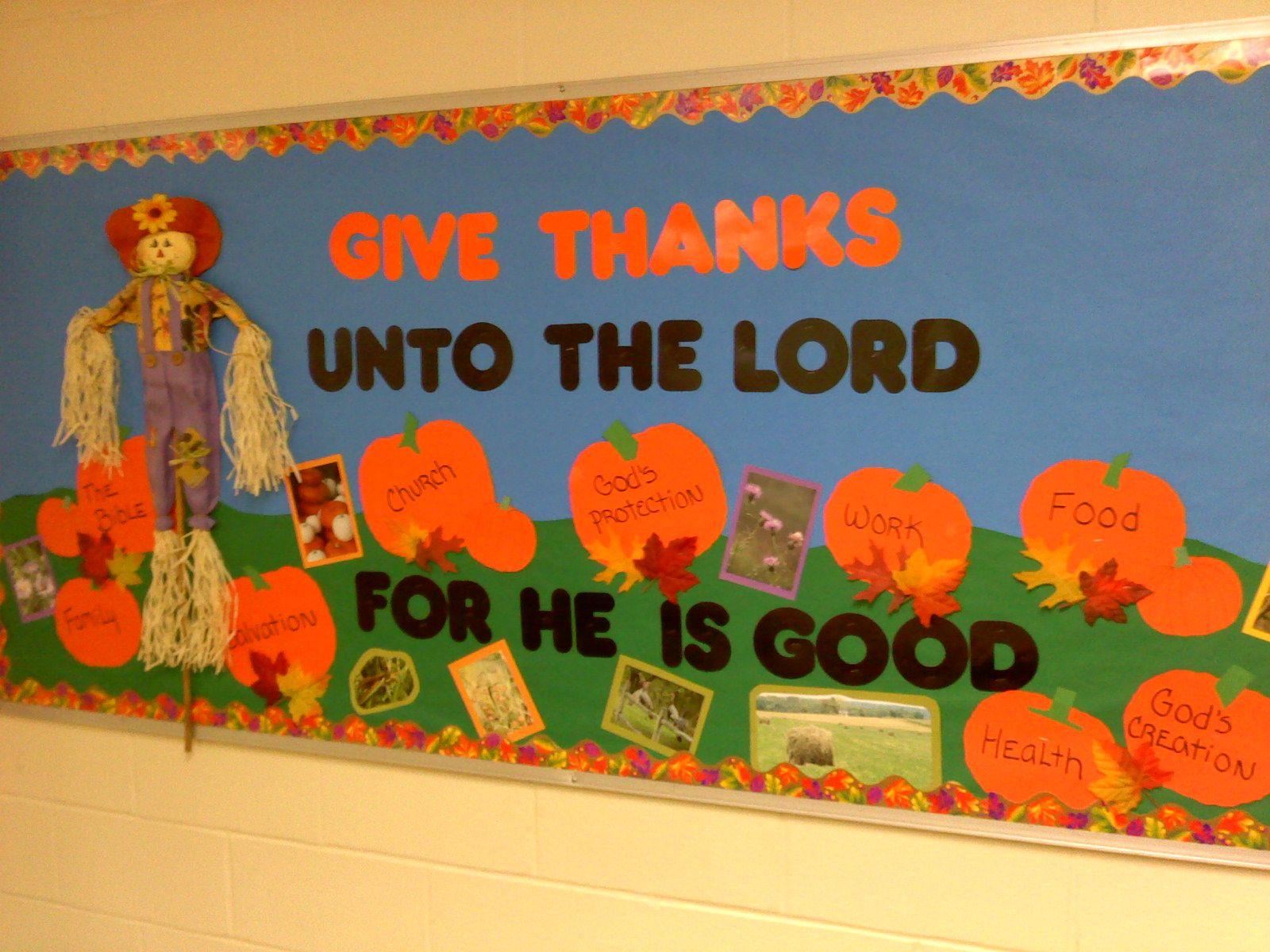 Sunday School Bulletin Boards Thanksgiving Christian