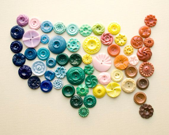 USA of buttons!