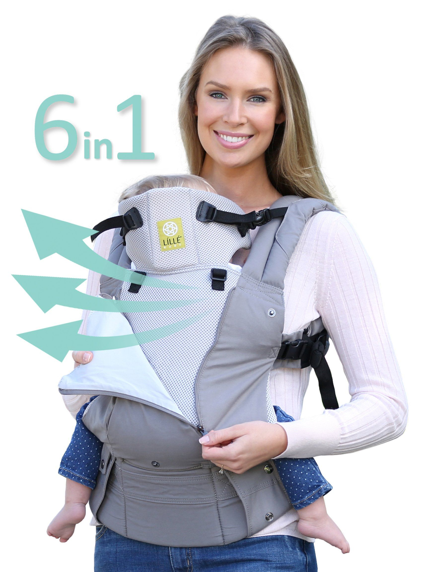 5494d00cf91 lillebaby All Seasons Stone 6 in 1 Baby Carrier