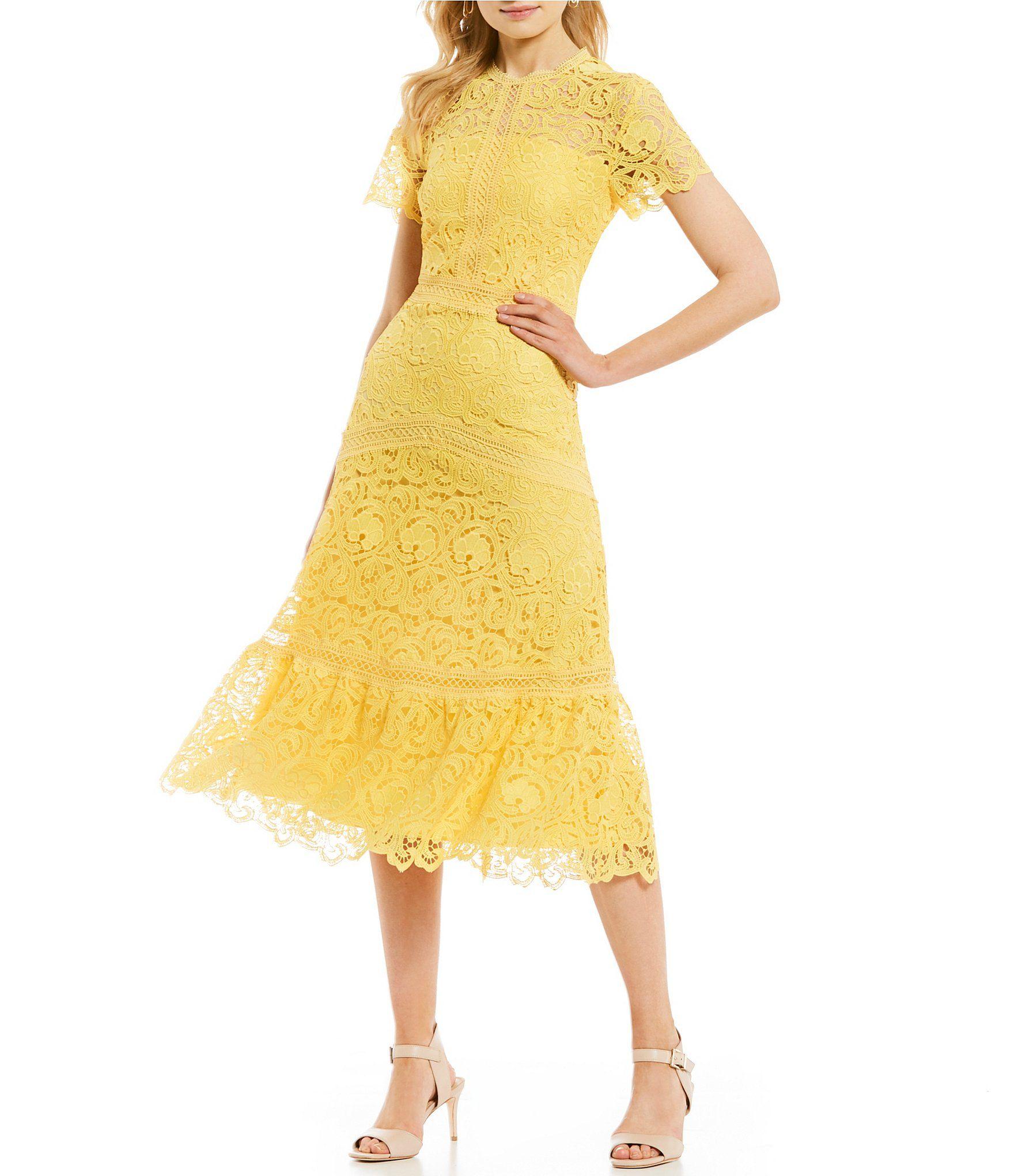 d43e9dd836bb1 Shop for Antonio Melani Lexi Lace Flounce Hem A-Line Midi Dress at  Dillards.com. Visit Dillards.com to find clothing, accessories, shoes,  cosmetics & more.
