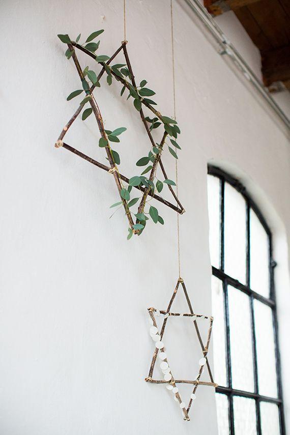 6 Minimalist DIY's For The Holidays / Xmas star garland / Weihnachtsstern / Estrella Navidad