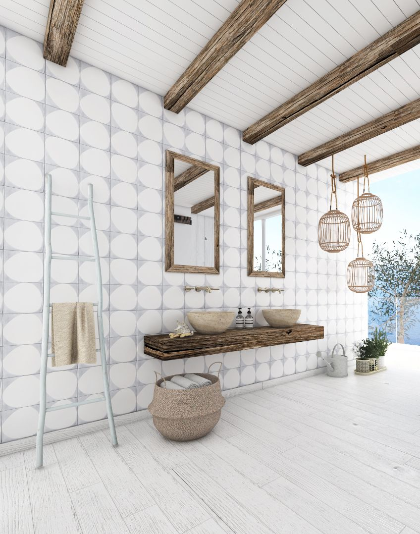 Architect Katka Petkovšek; mediterranean bathroom design; private ...