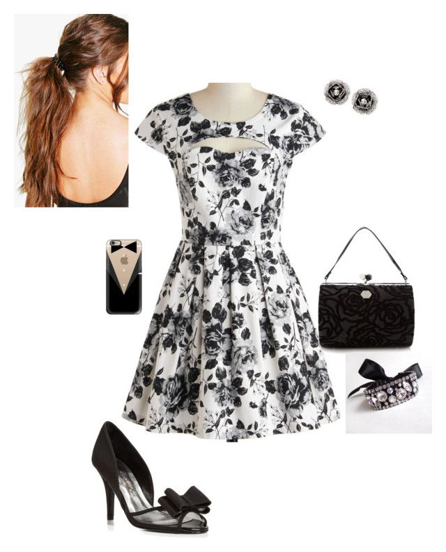 Spring in Monochrome #Monochrome #Spring #Style #Season #Floral #Black #White #Bow #Girly #Sweet #Chic
