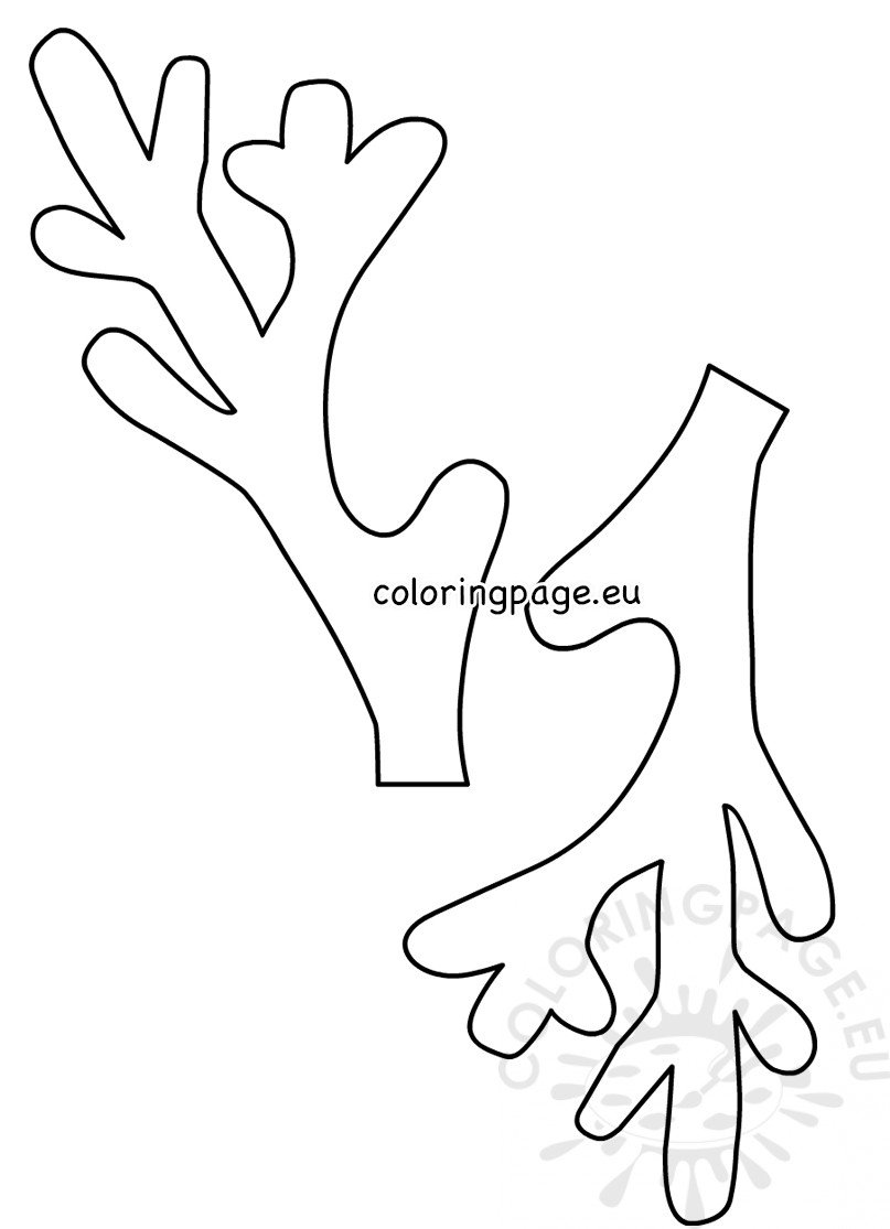 Reindeer Antlers Coloring Page Canva You'll Love