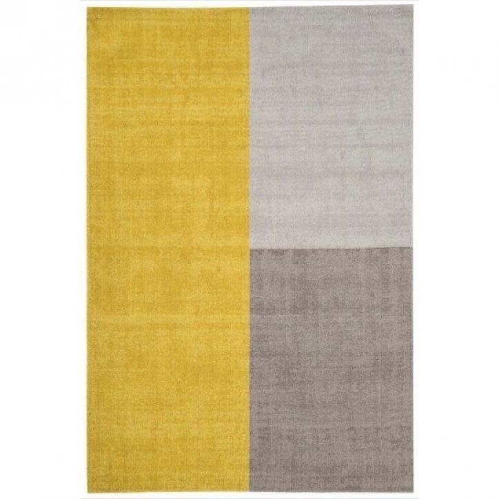 Contemporary Mustard Yellow Geometric Wool Rug At Kukoon Uk S Leading Specialist