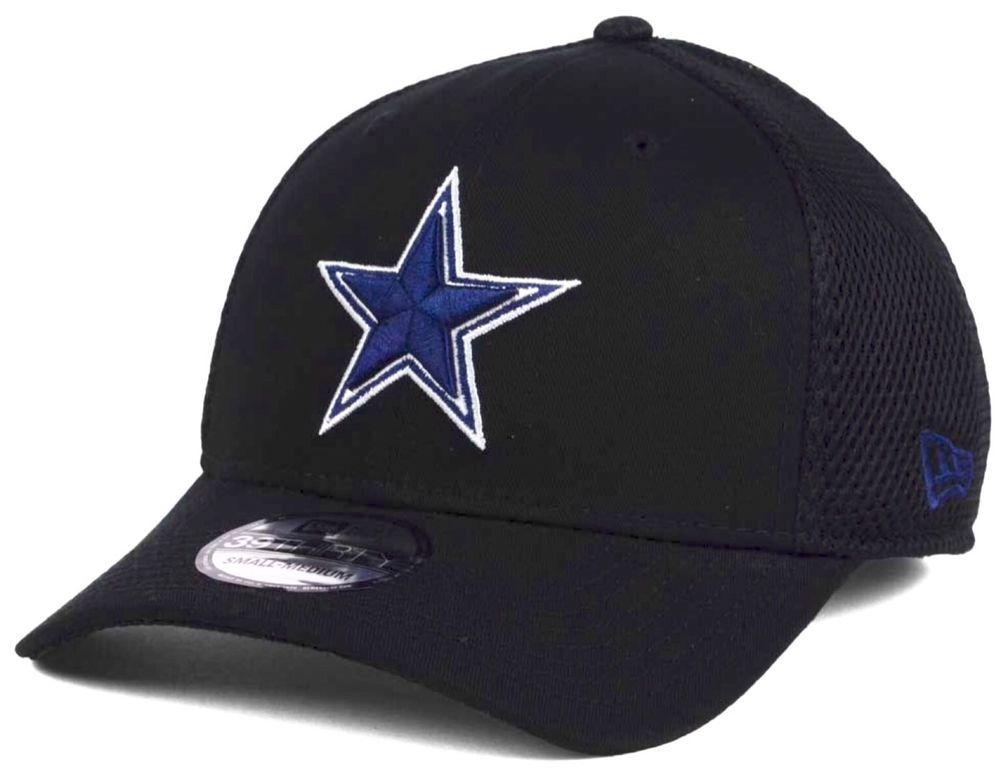 a86720b97bd Dallas Cowboys New Era 39Thirty Official GCP Black Neo L XL Fitted Cap Hat   NewEra  DallasCowboys