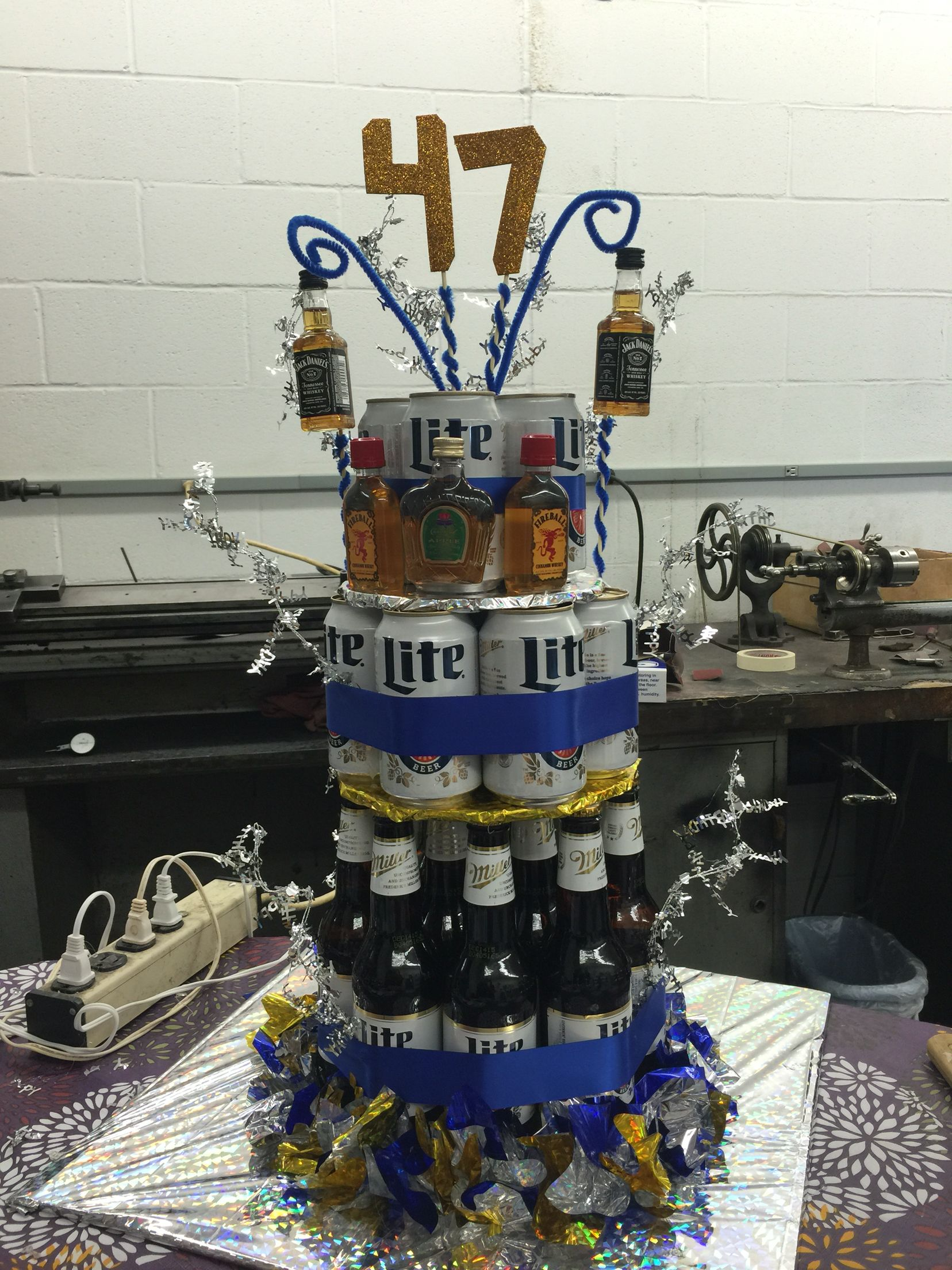 Miller Lite Beer Cake for your boss beercake PARTY IDEAS