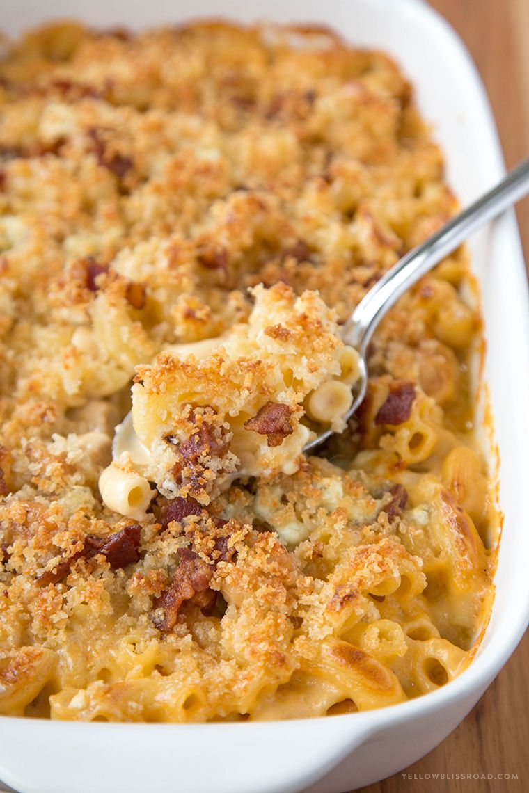 Chicken Bacon And Blue Cheese Mac Cheese Recipe Macaroni