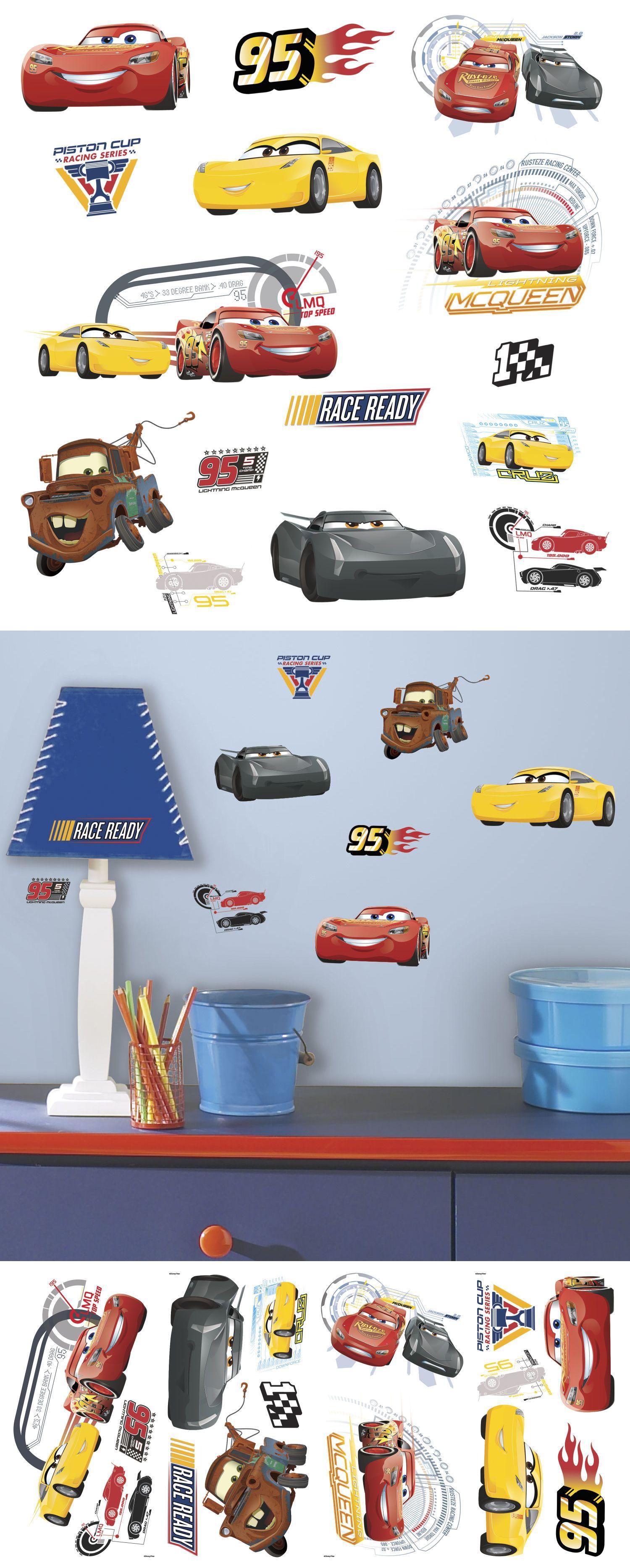 Bedroom Playroom And Dorm D Cor 115970 Disney Cars 3 Movie Wall Decals Lightning Mcqueen Mater Cruz Stickers Room Deco Wall Decals Decor Buy Disney Pixar Cars [ 3730 x 1500 Pixel ]