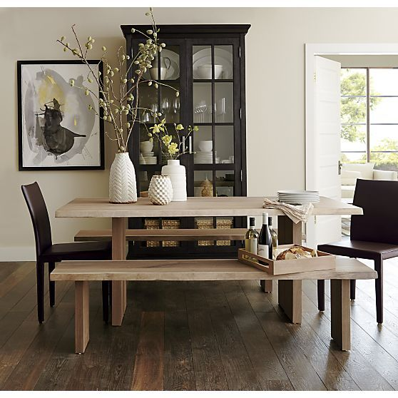 """Dakota 77"""" Dining Table  Crates Barrels And Crockery Cabinet Unique Kitchen And Dining Room Tables Decorating Design"""