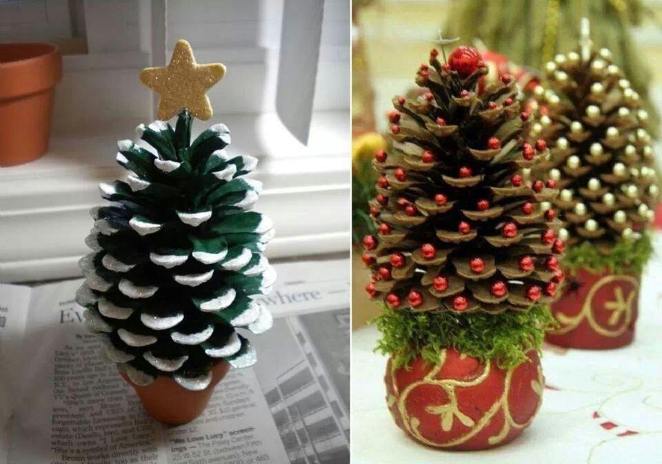 Magnifique Petit Sapin De Noël Adornos Navideños Reciclados Hacer Adornos De Navidad Manualidades Navideñas